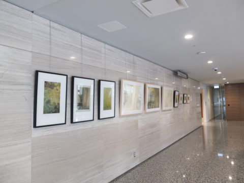 Several smaller works installed in Enbridge Centre space